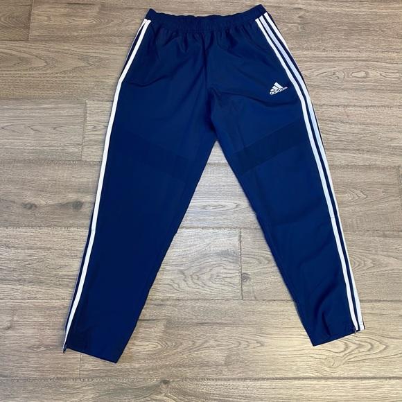 Adidas Track Pants Size Medium Navy Blue